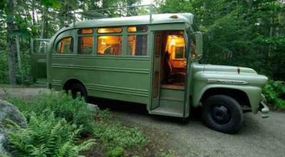 tempat tinggal minimalis dari bus bekas