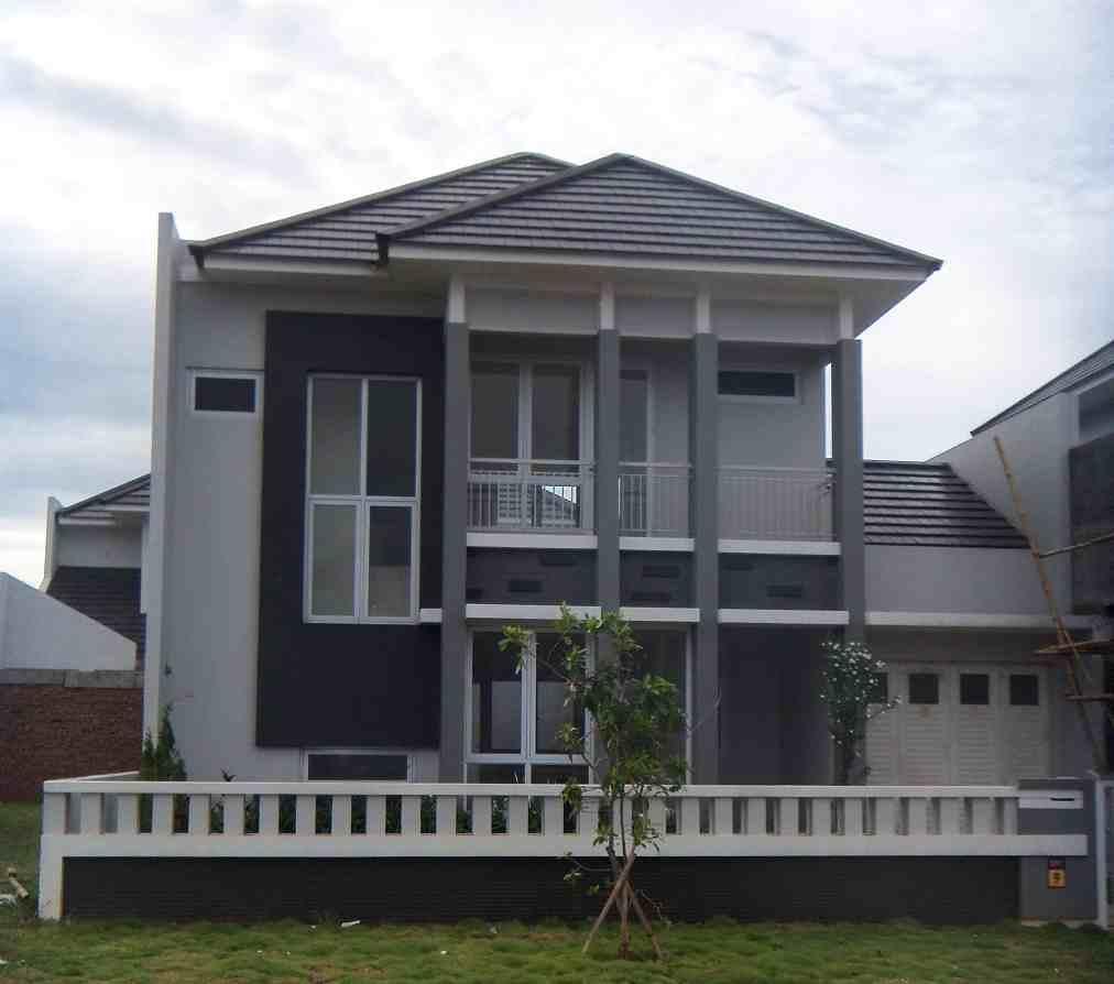 Desain cat rumah minimalis bagian depan