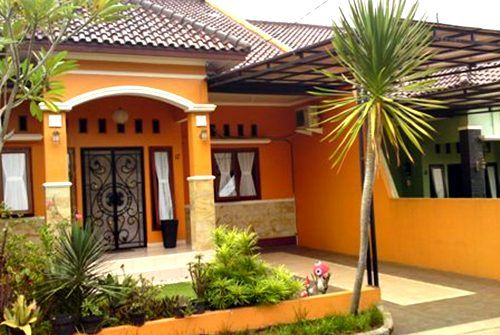 Kombinasi cat warna cerah untuk rumah minimalis