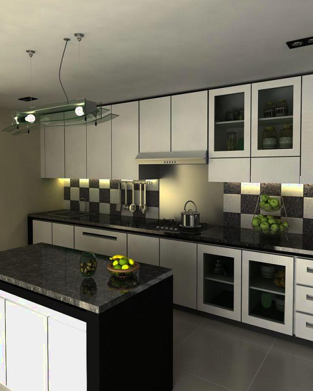 Desain kitchen set minimalis rumah best free home for Desain kitchen set