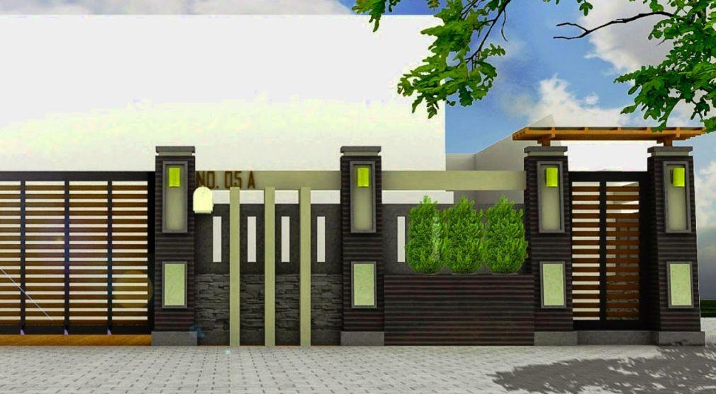 Desain Pagar Rumah Minimalis 2