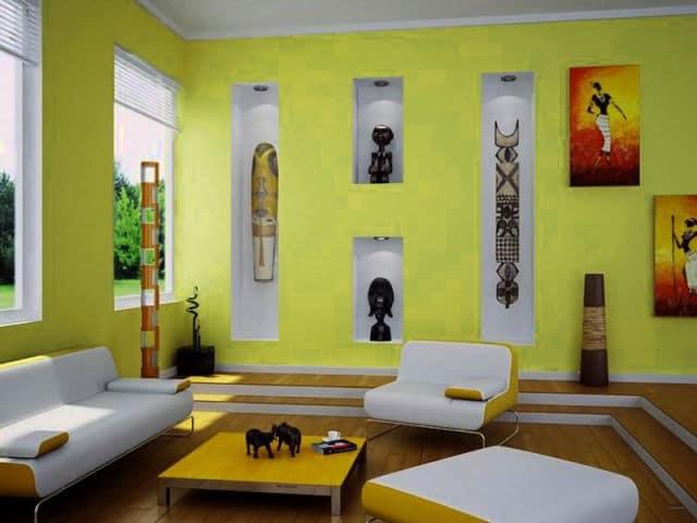Kombinasi Warna Kuning Untuk Ruang Tamu