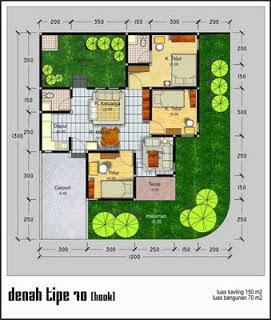 desain rumah minimalis type 70