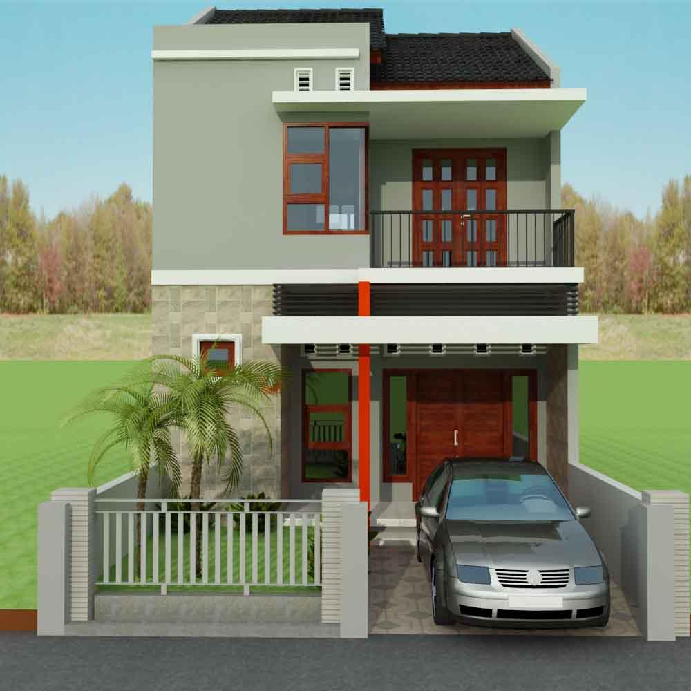 Desain Rumah Minimalis Type 21 Dua Lantai