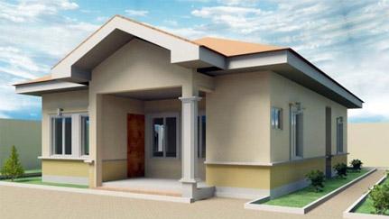 desain-rumah leter l sederhana di desa - top denah rumah