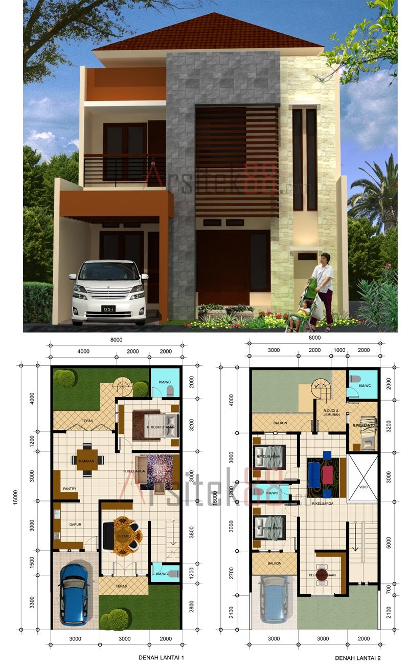 10 Model Rumah Modern Dan Denah 2016 Rumah Pantura