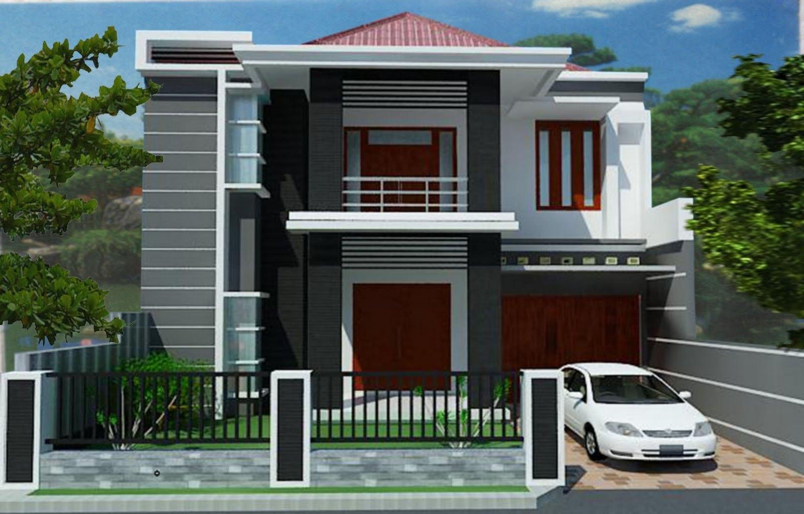 10 desain denah rumah minimalis modern 2 lantai type 45 - Desain Rumah Minimalis 2 Lantai Terbaru
