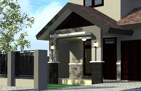 model tiang teras rumah minimalis : rumah pantura