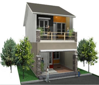 Desain Rumah Minimalis Type 21 Dua Lantai Rumah Pantura
