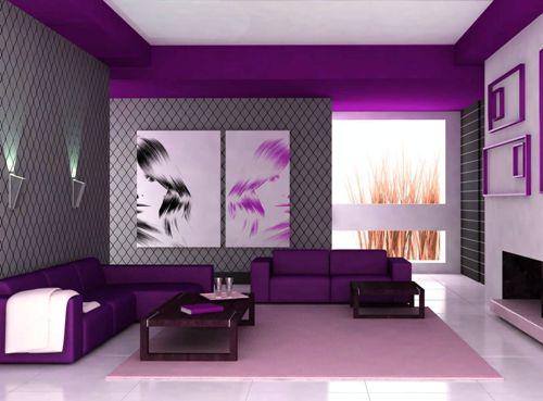 Tips Padu Padan Warna Ungu Untuk Interior Ruang Tamu : Rumah Pantura