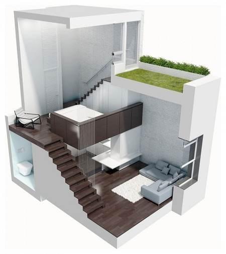 Desain Interior Rumah Minimalis Karya Specht Harpman